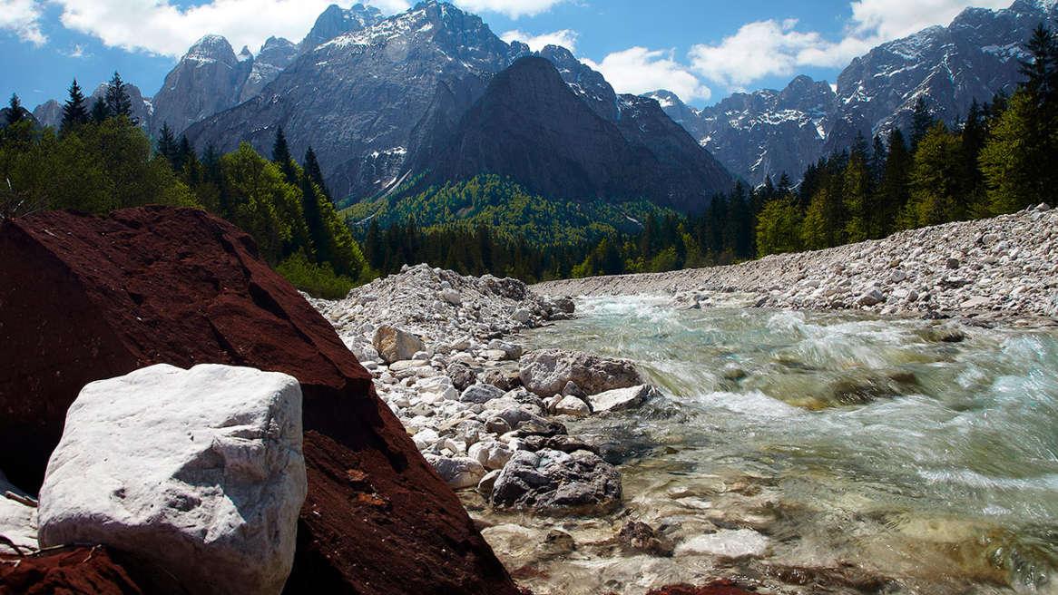 valbruna italy landscape image of the julian alps