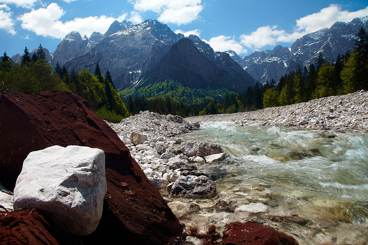 valbruna italy landscape image of the julian alps