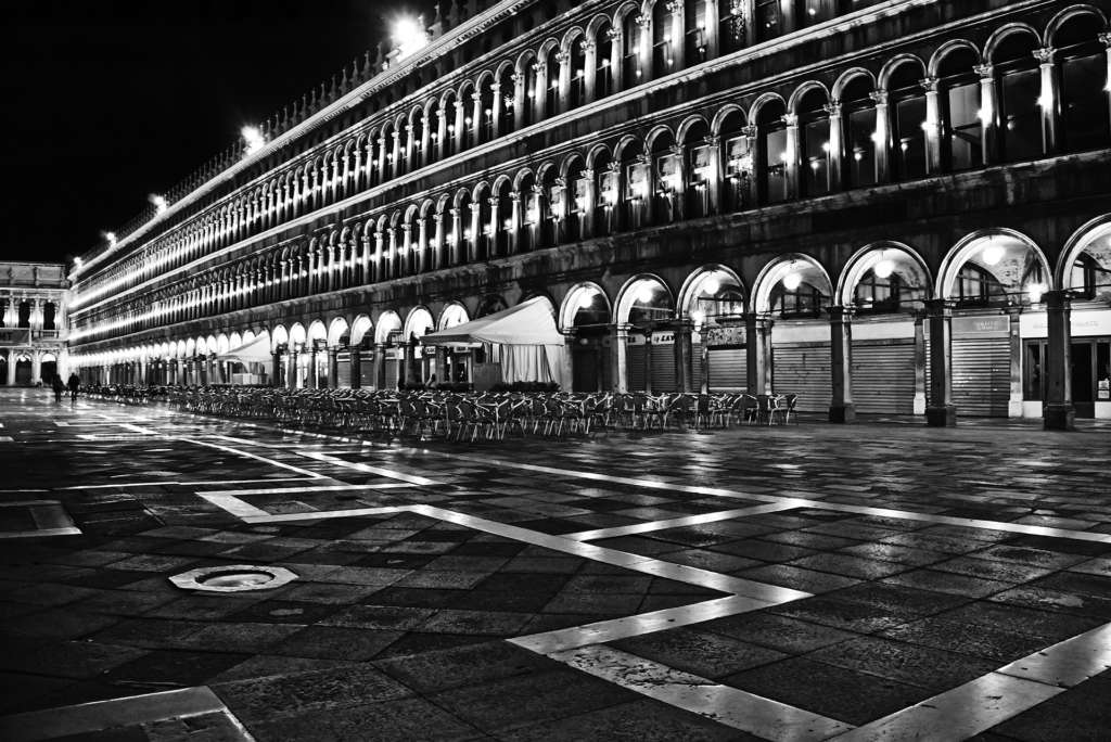 san marco's square at 3am venice
